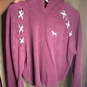 Victoria secret lace up hoodie
